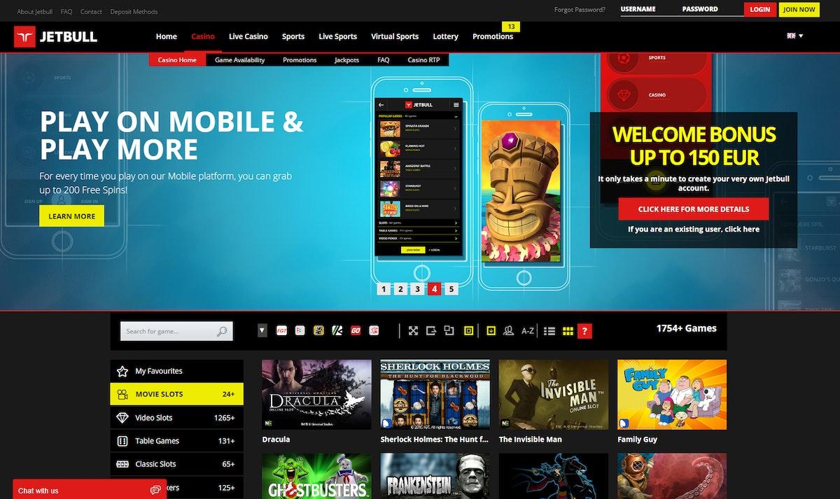 Jetbull Casino Bonus Codes 2021